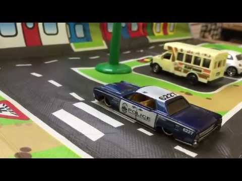 Hot Wheels Police Car 64 Lincoln Continental Youtube