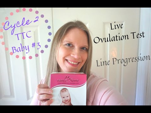TTC in my late 30s | Live Ovulation Test | Cycle 2