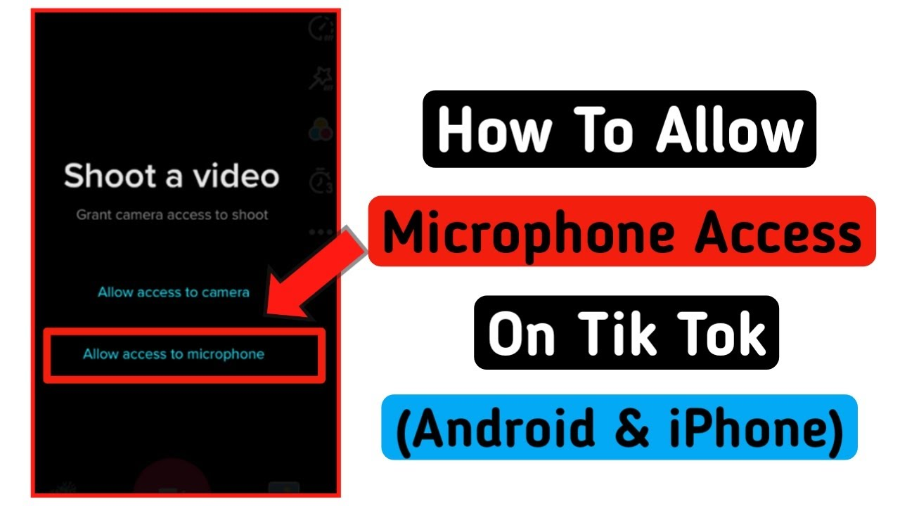 How To Allow Microphone Access On Tik Tok In Iphone Youtube