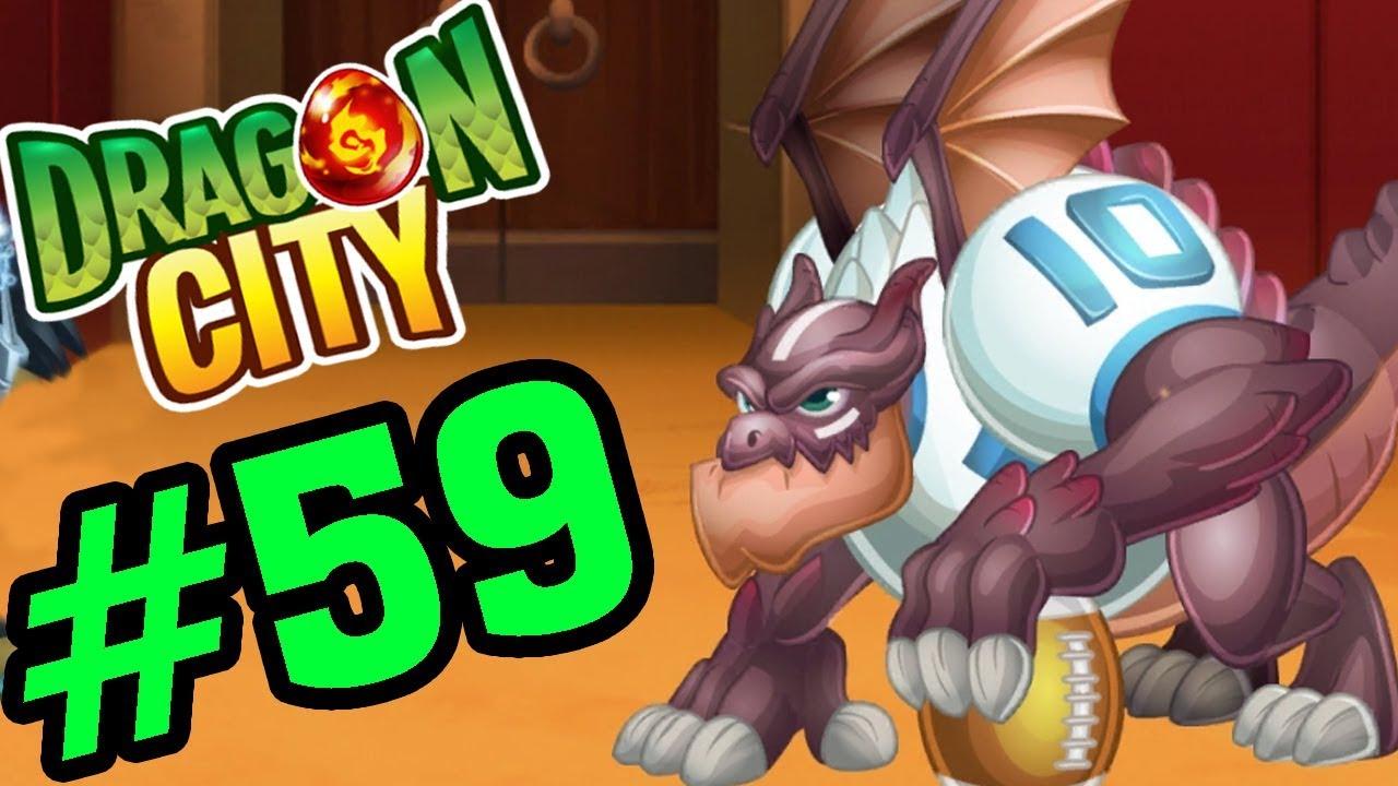 DRAGON CITY – Touchdown Dragon Siêu Sao Bóng Bầu Dục – GAME NÔNG TRẠI RỒNG #59