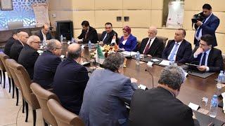 وزير الخارحية العراقي ابراهيم الجعفري ووزير خارجية الجزائر رمطان العمامرة بوزارة الخارجية الجزائرية
