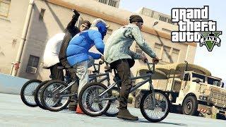 """LITEWSKI GANG ROWEROWY w GTA 5 Online Hogaty i EKIPA """"STUNTY NA BMX"""" #206"""