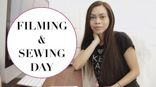 Filming and Sewing Day + eating sweet butter? Vlog