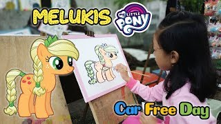 Aqilla... Ayo Bangun!!! Kita Ke Car Free Day Yuk... ♥ Mewarnai My Little Pony