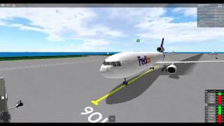 Roblox Flight. FedEx Flight 2932 (McDonnell-Douglas MD-11) Flight Plan: Green to Red