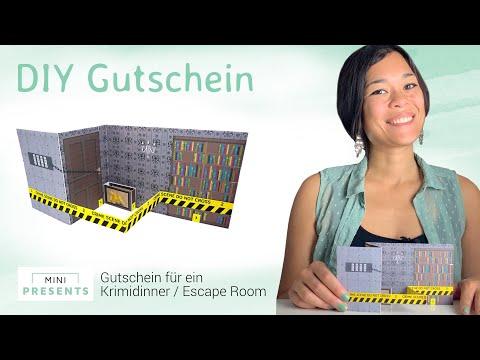 DIY Gutschein | Escape Room / Krimidinner Gutschein Geschenkidee selber basteln | mini-presents