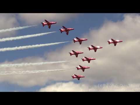2019 New York International Air Show - RAF Red Arrows