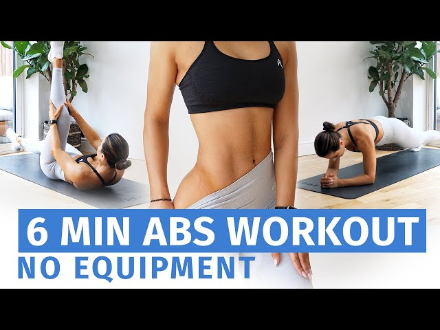 6 MIN ABS WORKOUT - NO EQUIPMENT // Krissy Cela