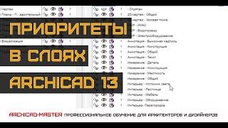 Урок ArchiCAD (Проблема пересечения стен или приоритет слоя)