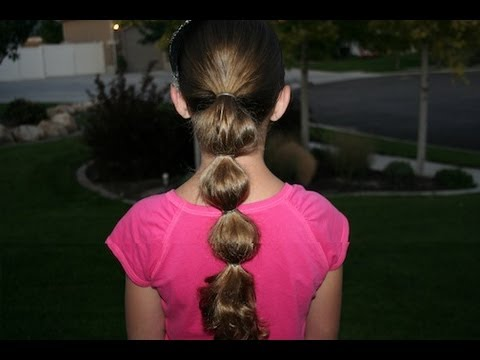 Bubble Ponytail | Long Hair | Cute Girls Hairstyles