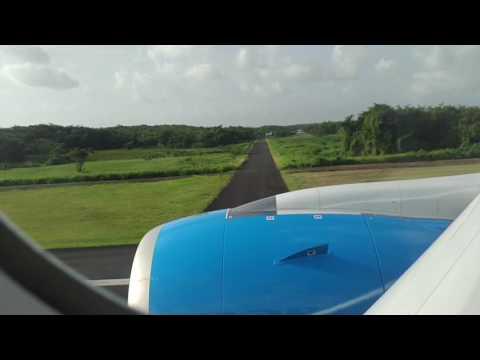 Décollage TX541 Air Caraïbes de l'aéroport Guadeloupe pôle Caraïbes en A350-900