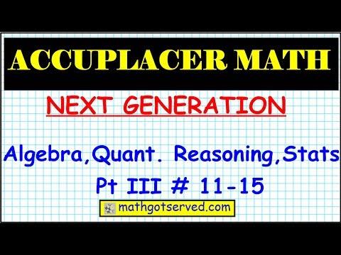 Accuplacer Next Generation Algebra...