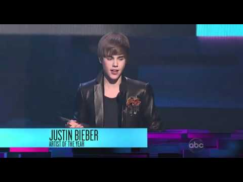 Justin Bieber Wins Artist Of The Year - American Music Awards 2010 AMA