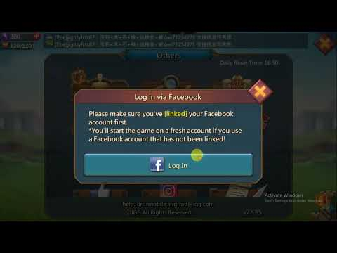 How To Link Your Account In Lords Mobile And Play On Another Device ||