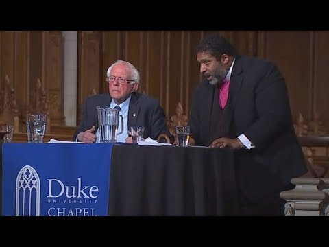 U.S. Sen. Bernie Sanders and the Rev. William Barber speak at Duke Chapel