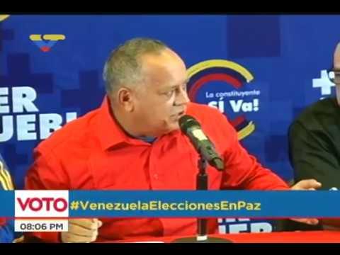 Diosdado Cabello, rueda de prensa este 30 de julio tras elecciones constituyentes