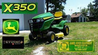 2017 John Deere X350 Lawn Tractor Cutting Grass / Review/ MowerPlus App Part 2 By KVUSMC