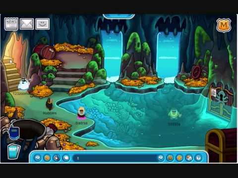 How To Find The Key To The Under-water Room On Club Penguin - YouTube