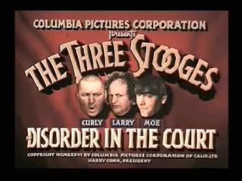 The Three Stooges - Disorder in the Court (1936 Film #15, Colorized)