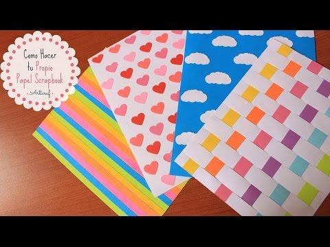 Como hacer tu propio papel scrapbook diy youtube - Como hacer jarrones de papel ...