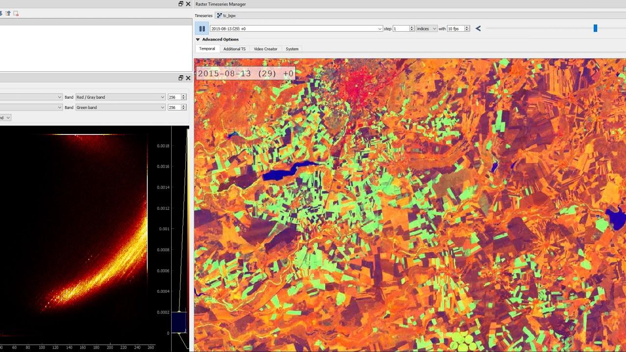 Raster Data Plotly (QGIS Plugin) - animated scatter plot