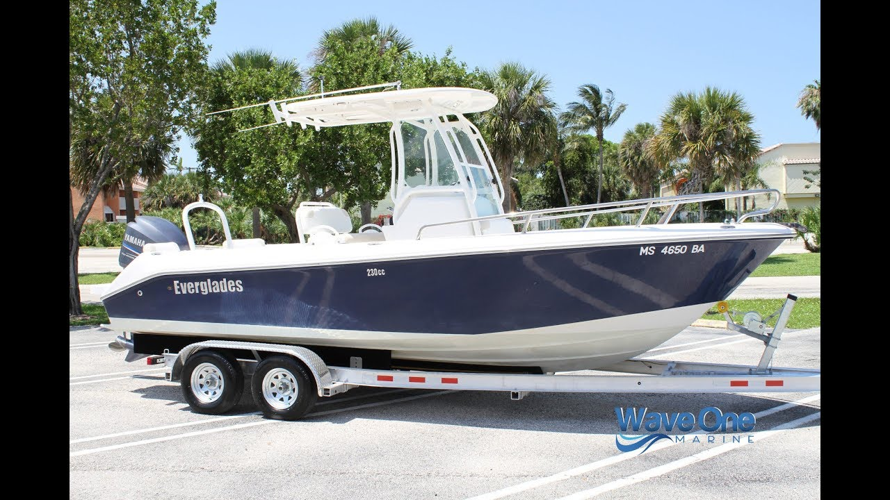 FOR SALE - 2011 Everglades 230 CC - Only 182 Hours!   Brand New Trailer    VIDEO TOUR