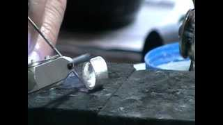 step bezel for faceted stone