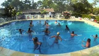 Cours d'aquagym au Camping Côte d'Argent à Labenne Océan