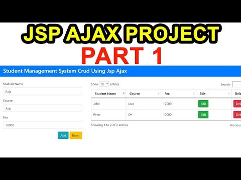JSP  Ajax Project Step By Step Part 1