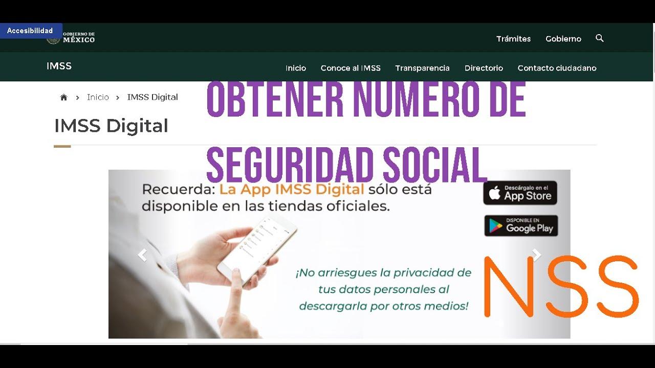 Consultar Numero de Seguridad Social Descargar e Imprimir  IMSS NSS fácil y Rápido