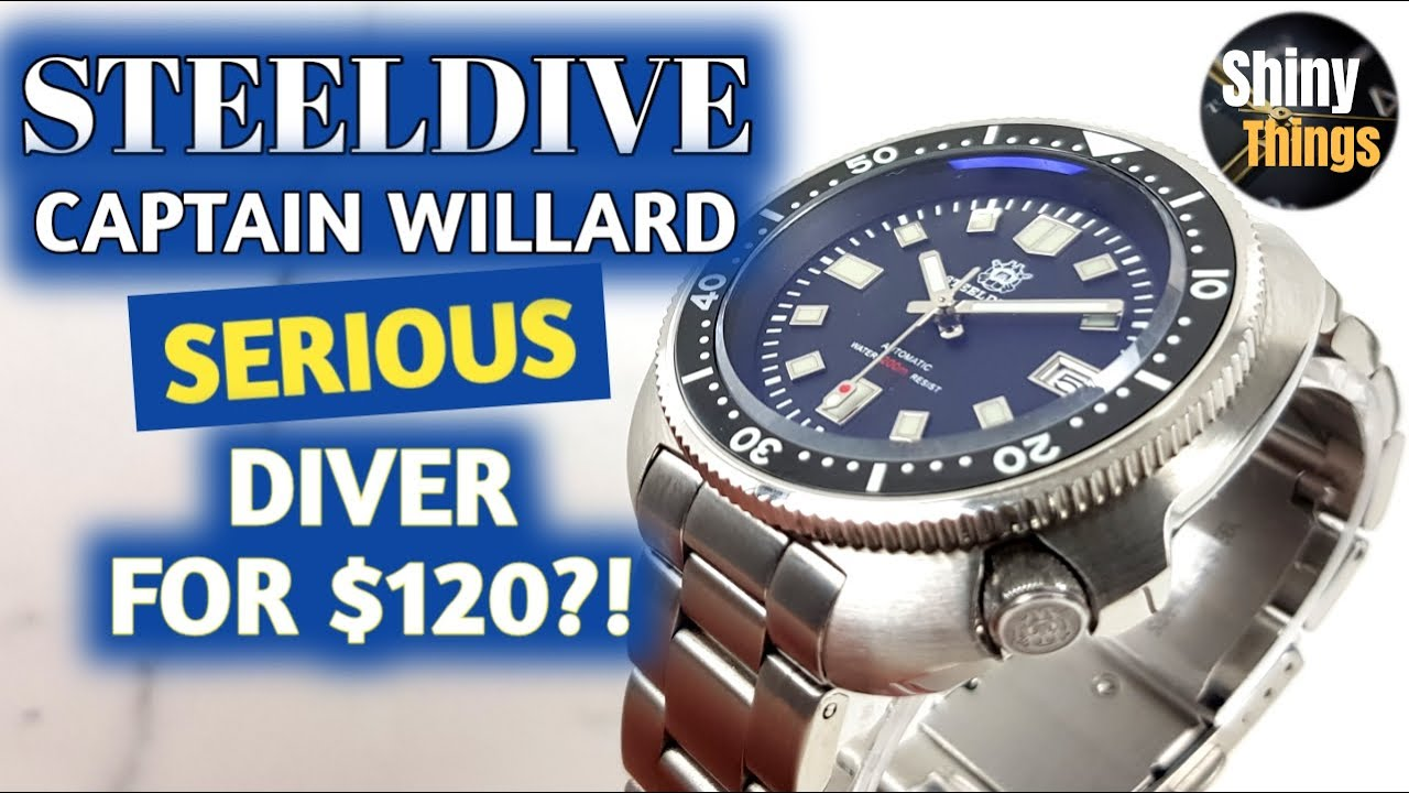 REAL Automatic Diver for $120?! - Steeldive Captain Willard SD 1970 Unboxing