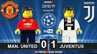 Manchester United vs Juventus 0-1 • Champions League 2019 (23/10) All Goals Highlights Lego Football