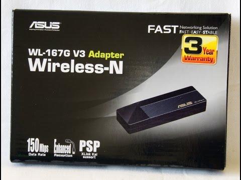 Unboxing: Asus WL-167G V3 (адаптер Wi-fi)+установка