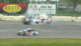 ARCA Menards Series 2019. Toledo Speedway. Joe Graf Jr. & Hailie Deegan Crash