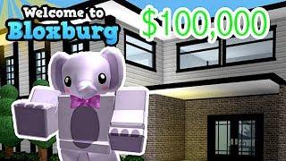 BUILDING A FAN A $100,000 HOUSE! BLOXBURG | ROBLOX | FAMBAM GAMING