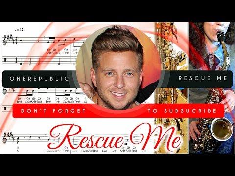 Rescue Me Sheet Music Saxophone (Alto) - OneRepublic Rescue Me Tutorial thumbnail