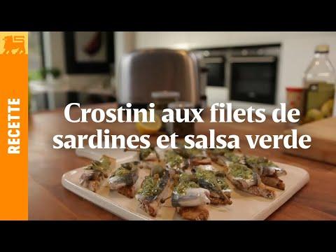 Crostini aux filets de sardines et salsa verde