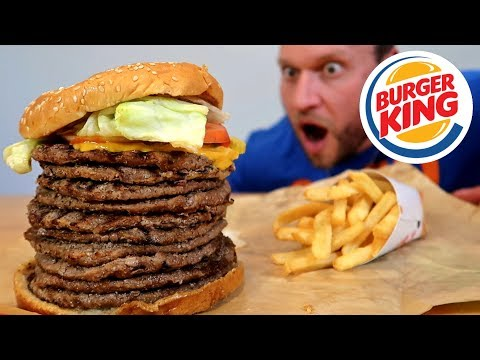 Thumbnail: Burger King's BIGGEST Whopper Ever Challenge!