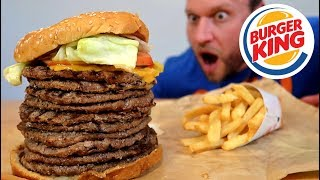 Burger King's BIGGEST Whopper Ever Challenge!