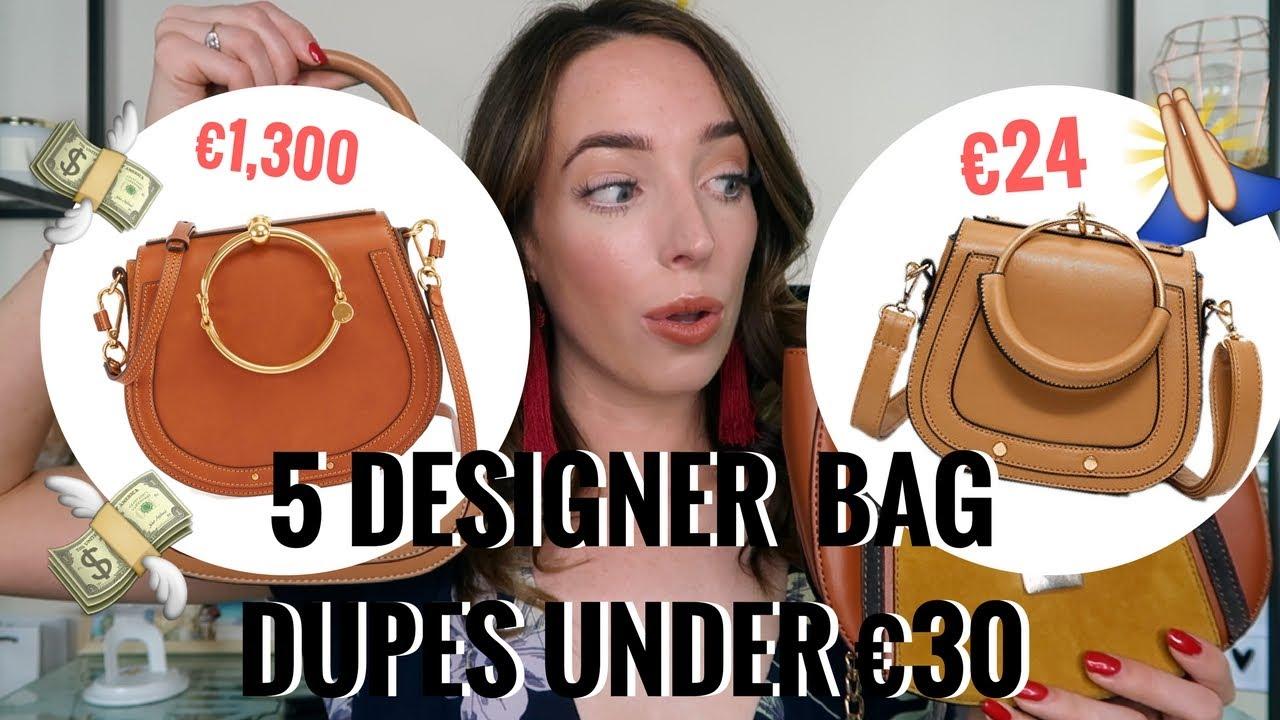 a4cba5ddad2f58 5 DESIGNER DUPE BAGS UNDER €30! 👜 PRADA, CHLOE, CHANEL, LOUIS ...