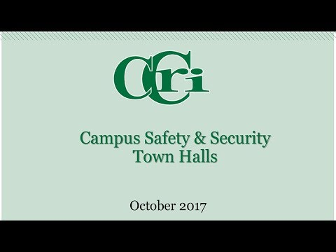 Campus Safety & Security Town Hall Meeting, October 18, 2017, Newport County Campus