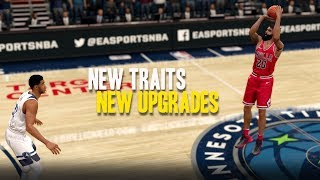 NBA LIVE 18 THE ONE STRETCH BIG | NEW UPGRADES AND NEW TRAITS!