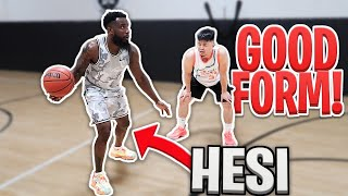 I TAUGHT CASH MY SIGNATURE CROSSOVER AND NEW 1v1 BASKETBALL MOVES!