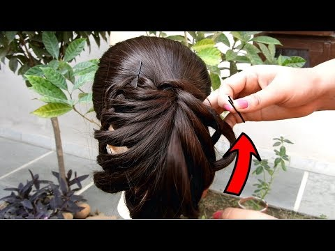 Easy Party hairstyle 2019 for girls || Best Hairstyles for long hair || Hairstyles for party/wedding thumbnail