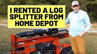 76 Home Depot Log Splitter Rental   Toro LS922   Making Firewood For the Fire Pit