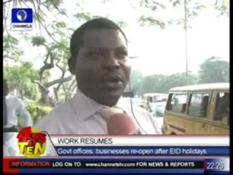 Lagos work resumes: Govt offices, businesses  re-open after Eid Holidays