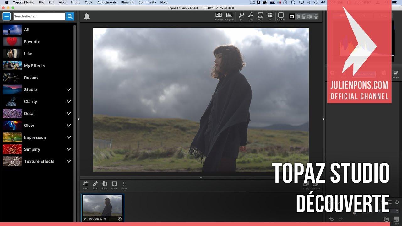 Découverte de Topaz Studio