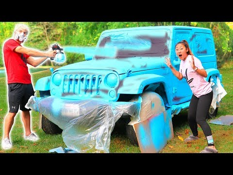 SPRAY PAINT CAR SURPRISE!!