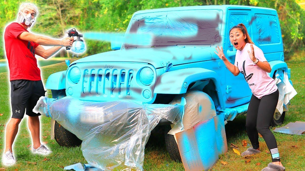 Pop Up Paint Booth >> SPRAY PAINT CAR SURPRISE!! - phim22.com