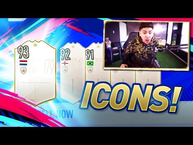 5 ICON SBC PACKS!! OMGGG!! FIFA 19